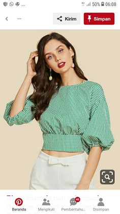 47 Summer Tops Blouses For Daytime - Daily Fashion Outfits Girls Fashion Clothes, Fashion Outfits, Clothes For Women, Sleeves Designs For Dresses, Mein Style, Batik, Crop Top Outfits, African Fashion Dresses, Trendy Tops