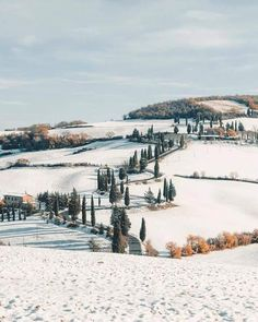Tuscany in snow