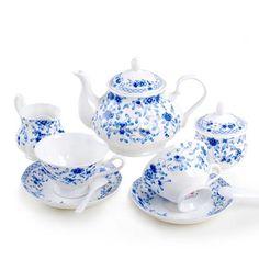 Everyday Use Chrysanthemum Lines Coffee Tea Set