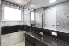 Arquiteta Daniela Ines Foto: Gustavo Awad Produto: Olden HD #ceramicaportinari. Bathrooms - Baños, banho, banheiro.