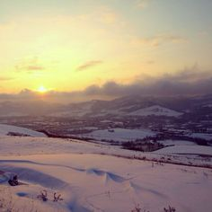 #Sunrise on the #snow, #Pianoro (#Apennines of #Bologna) Instagram by esse_b