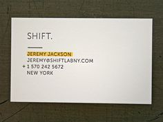 Shift Lab Card in Business card