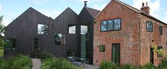 hunsett mill - Google Search Wood Cladding Exterior, Timber Cladding, Cottage Extension, Brick Cottage, Timber Architecture, Contemporary Barn, House Design, Extensions, Buildings