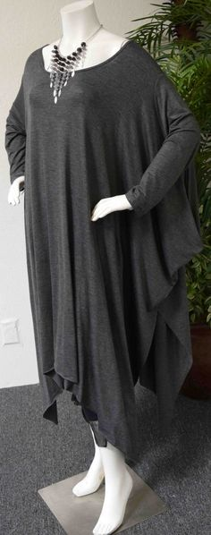 fdf2df4695e New ComfyPlus Long Asymmetrical Lagenlook Plus size Tunic Top. One Size up  to 6XL