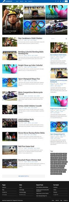 SuperSport WordPress Blogging Theme : Themecountry http://www.wordpressthemereviewdesk.com/supersport-themecountry/ #WordPress