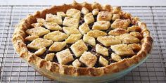 Satisfy your sweet tooth with this mincemeat pie, packed with raisins, apples, currants, and cranberries.