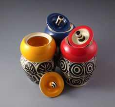 Cinderelish #323CLAY Sgraffito, Candle Holders, Pottery, Candles, Artists, Etsy, Design, Ceramica, Pottery Marks
