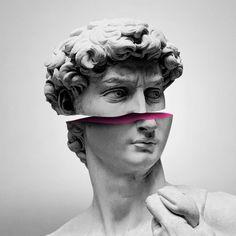 'Souvenir from Florence - David' Poster by EnjoyRiot Inspiration Tattoos, Art Sketches, Art Drawings, Vaporwave Art, Greek Art, Grafik Design, Aesthetic Art, Aesthetic Statue, Collage Art