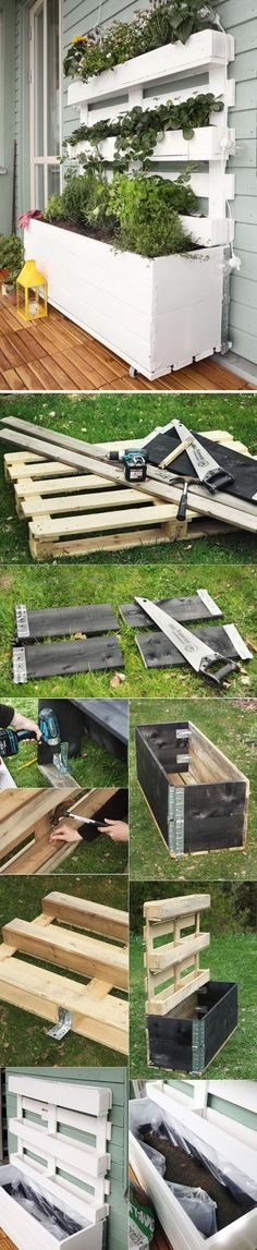 Awesome DIY Pallet Planter Box.