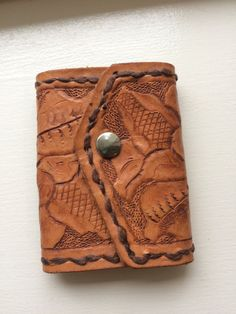 Vintage Hand Tooled Leather Key Case/Holder by ItsallforHim