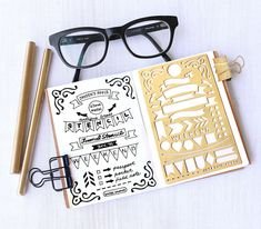 Planner Stencil, Bullet Journal Stencil, Banner and Flag Stencil - fits pocket, passport and field  note