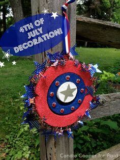 Easy fourth of july decorations the kids can help with, too!