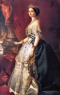 Eugénie de Montijo (via 1853 Eugénie de Montijo by Franz Xaver Winterhalter (Versailles)   Grand Ladies   gogm)