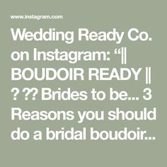 """Wedding Ready Co. on Instagram: """"