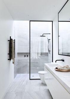 14 de Outubro: Decoração - Banheiro Preto e Branco