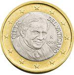 1 euro Vaticaanstad