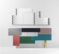 Credenza & mirror - Unique, vibrant and gorgeous! Salon du meuble de Milan 2014