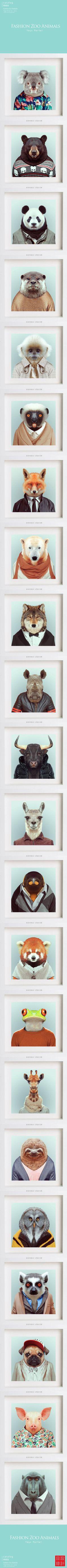 衣冠禽獸。 ☂ Zoo Portraits巴塞羅那攝影師Yago Partal創作的一組趣味攝影集 ☂ www.zooportraits.com