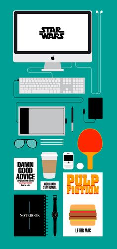 What's in your studio? by Kareem Gouda, via Behance