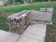 Create a stone grill island that will stand the test of time. Step by step, how to build a solid outdoor grill island.