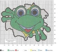 FROG LEAPING OUT OF THE WATER by CREATIVECANVASCRAFTS.COM -- WALL HANGING 2/2