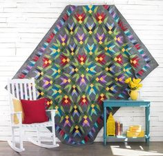With all the color and vibrancy of desert blooms, the Boundless Aura Juicy Cactus Quilt Kit brings new life to any room. You'll receive a downloadable pattern and all the Boundless Blenders Aura fabric you need to sew this Craftsy-exclusive quilt top.