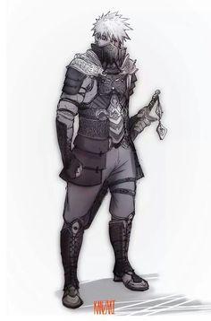 If kakashi was a samurai Kakashi Hatake, Naruto Uzumaki, Art Naruto, Naruto And Sasuke, Anime Naruto, Boruto, Anime Guys, Naruhina, Art And Illustration