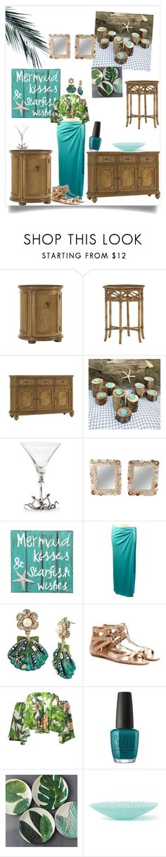 """""""Untitled #319"""" by bitty-junkkitty ❤ liked on Polyvore featuring interior, interiors, interior design, home, home decor, interior decorating, Tommy Bahama, Hostess, Vagabond House and NOVICA"""