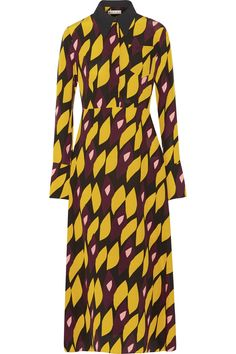 Marni   Printed silk-blend crepe midi dress   NET-A-PORTER.COM