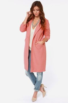 Somedays Lovin' Venkman Blush Pink Oversized Wool Coat at Lulus.com!  I would love to have this coat!!!