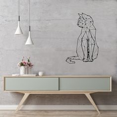 For cat and design lovers! Decorate your home with your unique style, show off your creativity and wow your visitors with this wall sticker. No wall damages. Our wall stickers are removable, reusable and repositionable. Wall Stickers, Wall Decals, Cat Design, House Design, Luxury Real Estate, Decorating Your Home, Luxury Homes, Sweet Home, New Homes