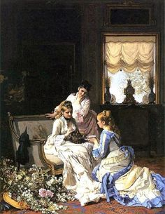G Charles Baugniet, Spring's New Arrivals