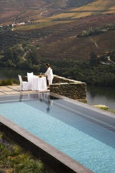 "Quinta da Romaneira - ""quinta dos Sonhos"", Douro Valley, Porto & North of Portugal Douro Portugal, Hotels Portugal, The Places Youll Go, Great Places, Places To Go, Beautiful Pools, Beautiful Places, My Pool, Swimming Pool Designs"