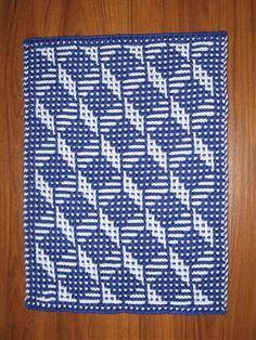 Ravelry: Tumbling Blocks Towel pattern by Amy Marie Stitch Patterns, Knitting Patterns, Crochet Patterns, Crochet Ideas, Tumbling Blocks, Pli, Simple Colors, Garter Stitch, Yarn Colors