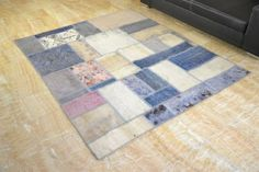 Patchwork Teppich handgeknüpft orient decolorized Vintage shabby chic 200x165 cm | eBay