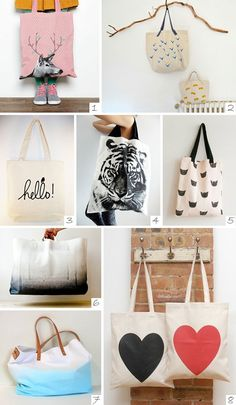 DIY your photo charms, 100% compatible with Pandora bracelets. Make your gifts special. DIY // canvas tote bags » PS by Dila | PS by Dila - Your daily inspiration