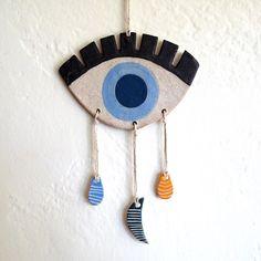 Ceramic Three Drop Eye Mobile by lovebugkiko on Etsy