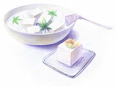 Colored Pencil Drawings of Japanese Food (Vol.01) - Colored Pencil Drawings of Foods Wallpaper   41
