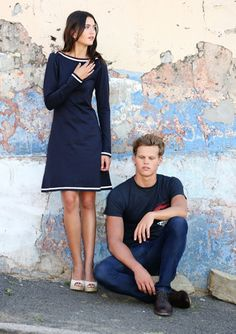 Knielange Kleider - Kleid - Ahoi - ein Designerstück von BonnyundRied bei DaWanda