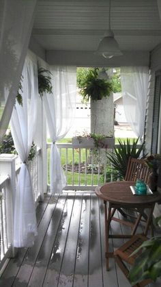 Over 45 awesome rustic country house porch decorating ideas - # Stunning # decor # Farm ., Over 45 awesome rustic farmhouse porch decorating ideas - While early in strategy, a pergola has been going through somewhat of a contemporary . Farmhouse Front Porches, Back Porches, Decks And Porches, Rustic Farmhouse, Farmhouse Style, Country Porches, Farmhouse Ideas, Country Porch Decor, Outdoor Rooms