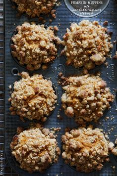 Pumpkin Muffins with a Candied Walnut Streusel via Bakers Royale