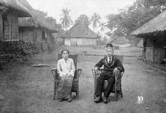 Bupati Radja Oemar Watang Nampira dari Kalipang, Pulau Alor, bersama istrinya, 1926