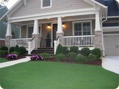 Resembles my front porch <3.....Bungalow Exterior