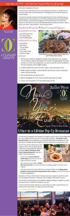 Southern Pecan & Walnut Caramel Squares | @CulinaryCrafts New Year's Eve Extravaganza Pop Up Restaurant | https://www.culinarycrafts.com/?p=15962