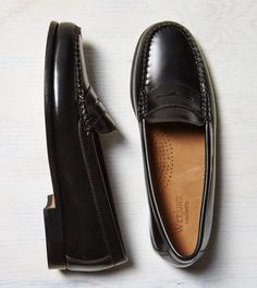 6f00ebf09 Black Bass Penny Loafer - love the penny loafers!!! Black Loafers, Penny