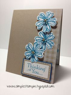 Stampin' Up! Card by Susan Itell: Flower Shop   Flower ...
