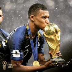 PSG superstar Kylian Mbappe has been named France Best Player ahead of Atletico Madrid star Antoine Griezmann and Real Madrid ace Rafael . Soccer Memes, Football Memes, Football Team, Goat Football, Football Squads, World Cup 2018, Fifa World Cup, Mbappe Psg, World Cup Trophy