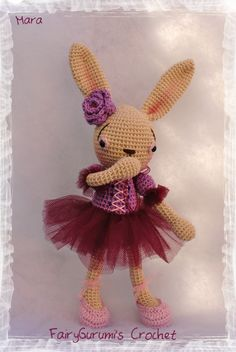 FairyGurumi's Crochet: Mara amigurumi rabbit dancer