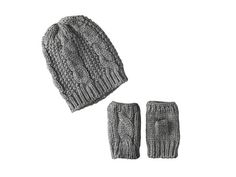 San Diego Hat Company KNH3340 Cable Knit Fingerless Gloves & Beanie Set