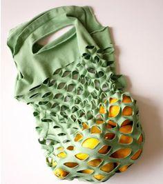 Make A Produce Bag From A T-Shirt - Foodista.com